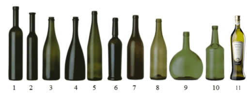 tipologie bottiglie WHY WINE BOTTLES ARE NOT ALL EQUAL?