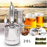Distillazione di Birra 20 L DIY Alambicco Alcol Vino Whisky Distillatore Distillazione Temperatura Serpentina Acqua Oli Essenziali Vodka Grappa Distillatori Completo Kit di Birra Nuovo 5 Gallon