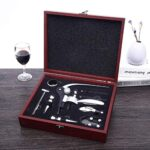 KDYSMWD Professional Wine Corkscrew Wooden Box Corkscrew Set Kitchen Tool Gift Portable Spiral Corkscrew Wine Corkscrew
